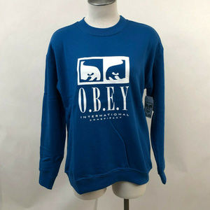 "Obey Sweatshirt ""International Conspiracy"" Blue"